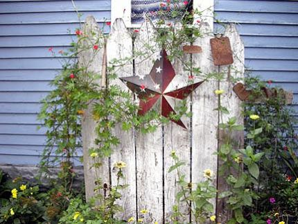 Rustic garden accent fence image