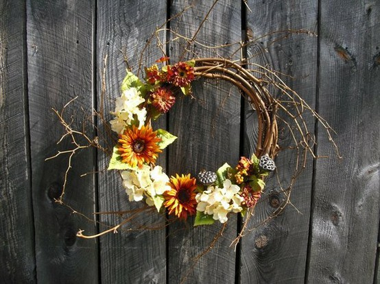Fall Rustic Garden Fence Wreath