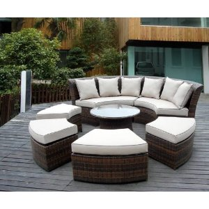 Round Outdoor Sectional Furniture